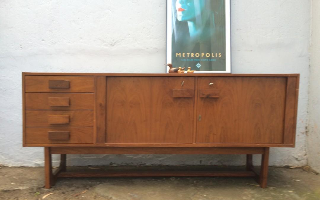 Mid century Frystark credenza sideboard cabinet. Sold