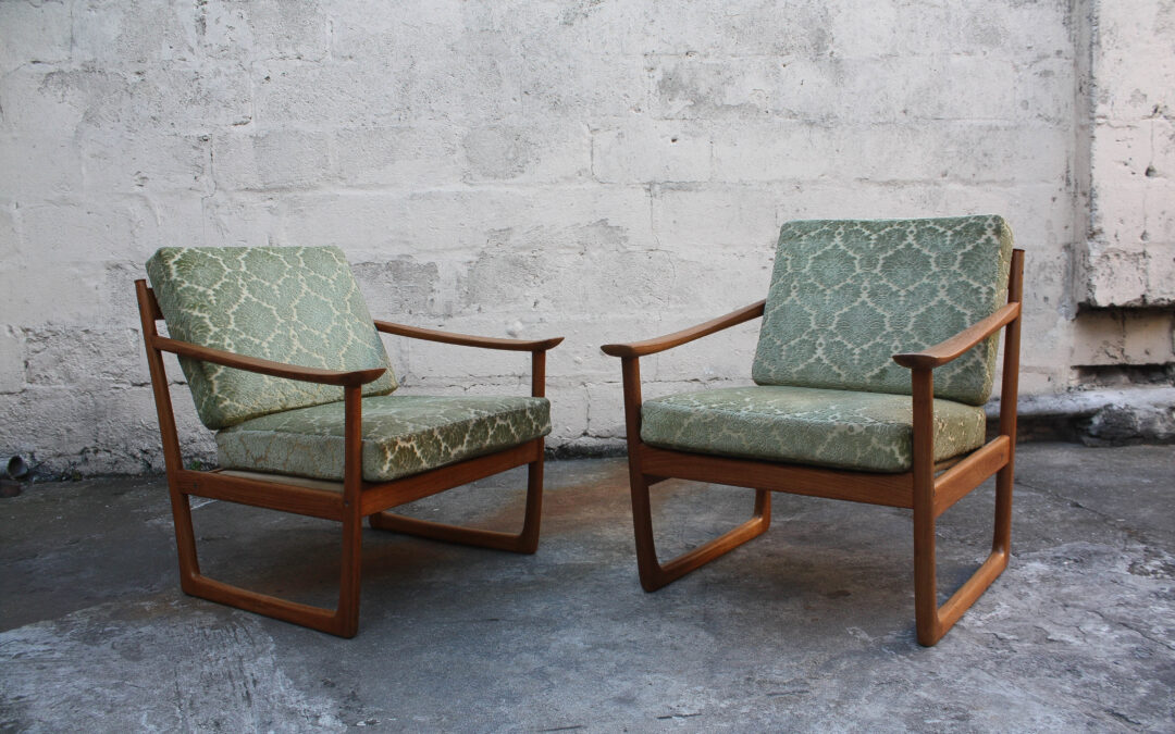 Sleigh chairs by Peter Hvidt & Orla Morlgaard. Sold