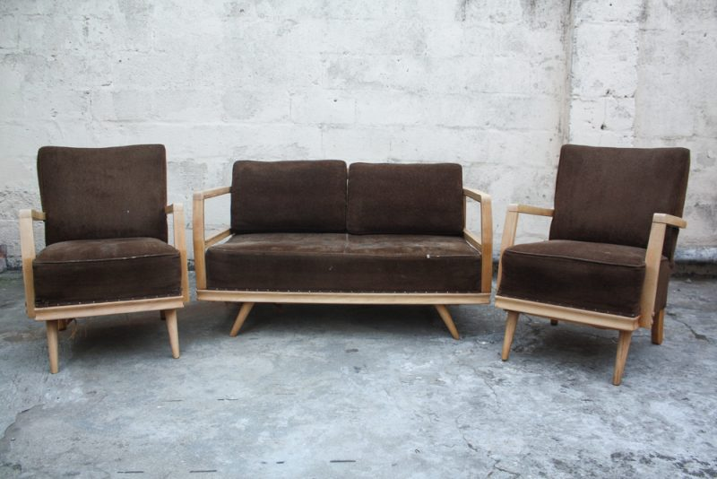 couch and two single seater armchairs