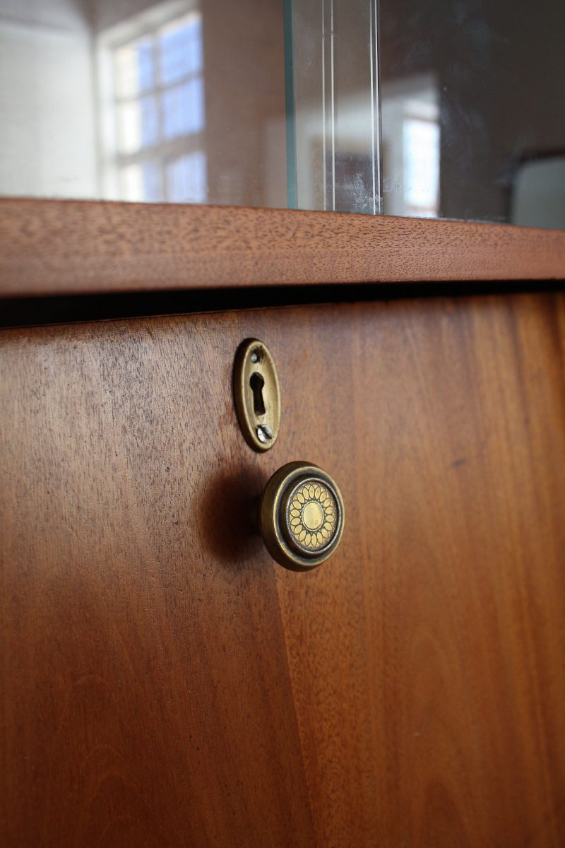 brass keyhole and brass circular handle