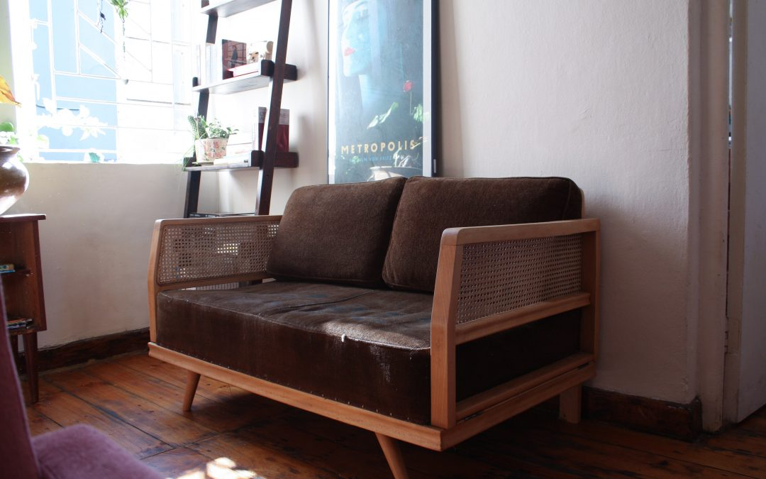 Exquisite Beechwood Mid century daybed. Sold