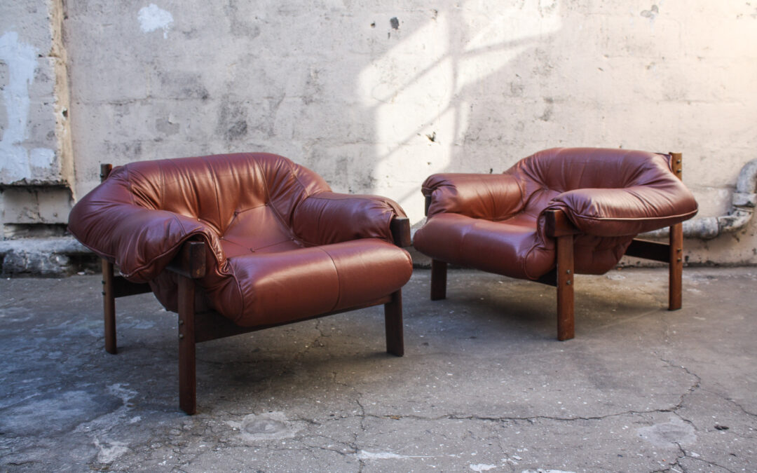 Percival Lafer MP-041 Rosewood Brazilian 1960's lounge chair set. Sold