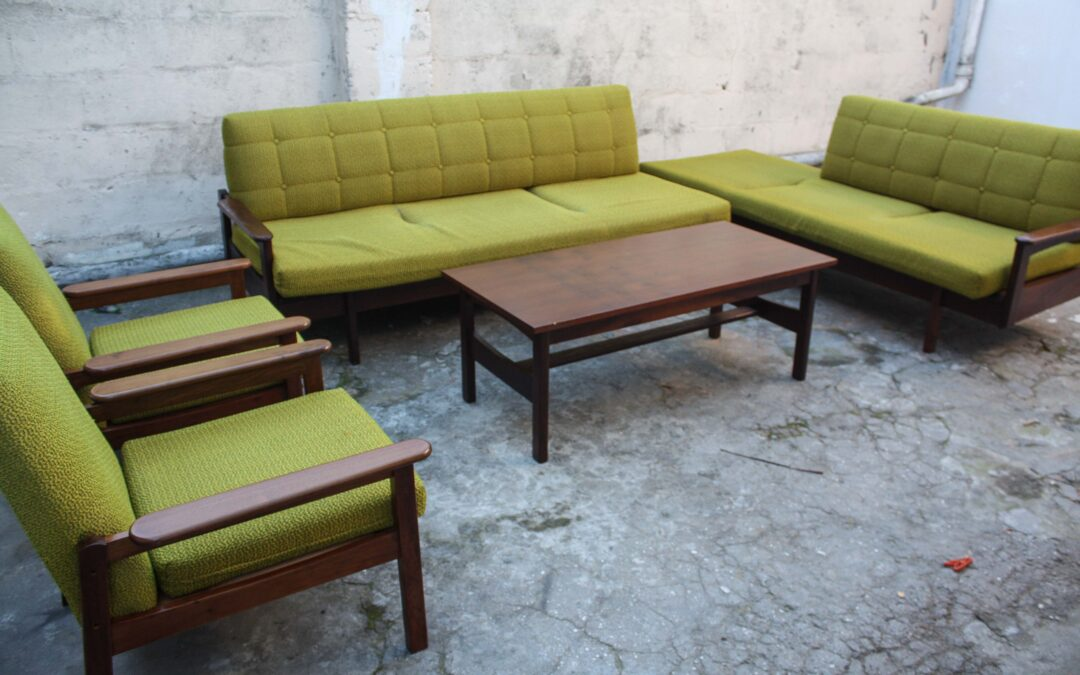 1970's Rosewood lounge set various prices. Sold