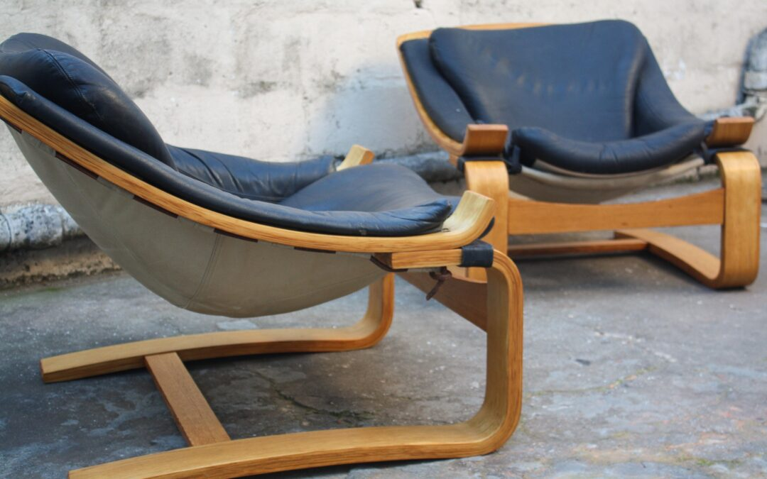 Pair of Kroken easy chairs by Ake Fribytter. Sold