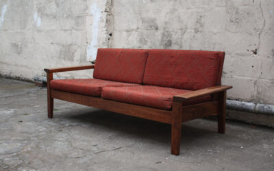 Teak Monastery 2 seater couch Mid century. Sold