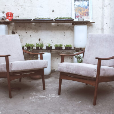 retro blowback armchairs